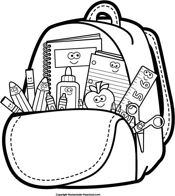 Vector Drawing Lines Worksheets : Stationery clipart black and white station