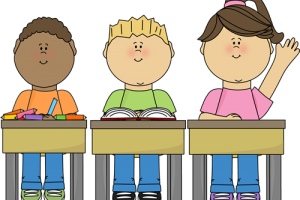 students in class clipart 1