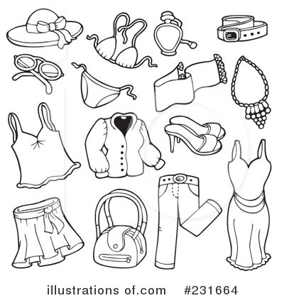 Summer clothes clipart black and white 8 » Clipart Station