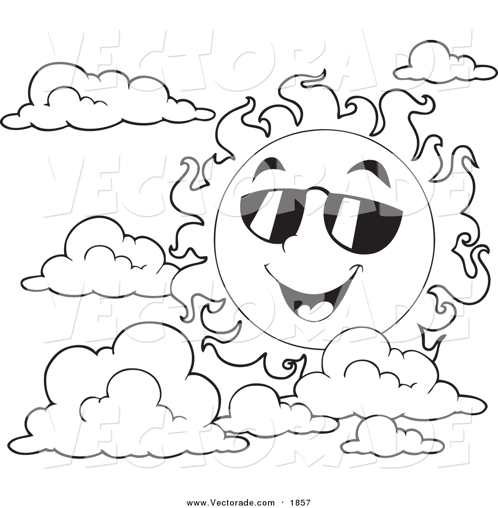 Summer season clipart black and white 7 » Clipart Station