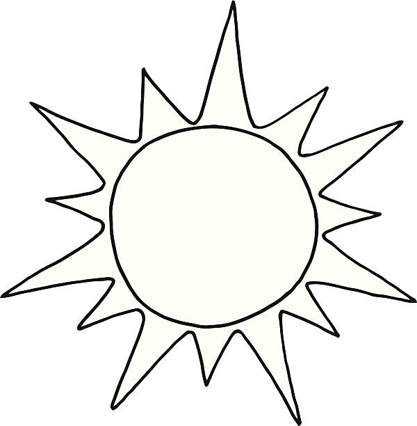 Sun black and white. Clipart station
