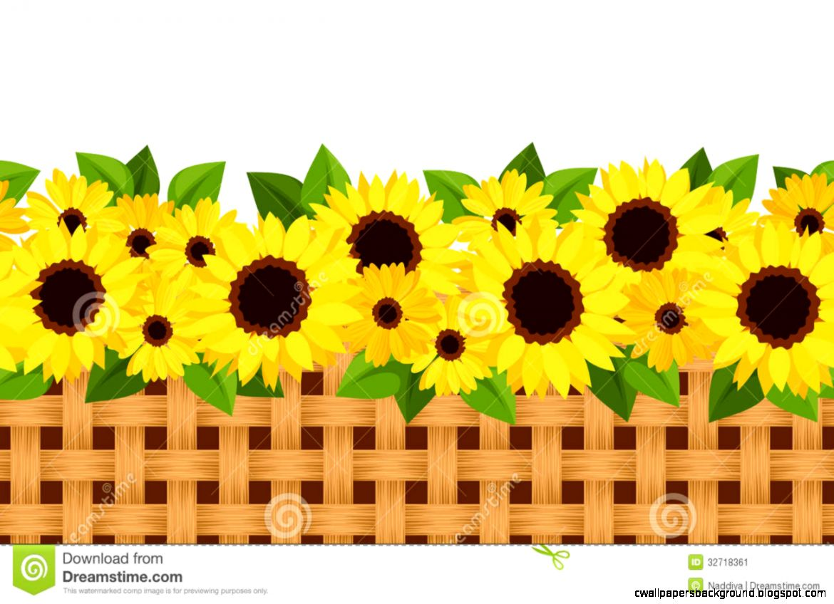 Sunflower Garden Clipart 2