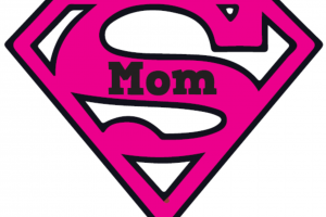 super mom clipart 2