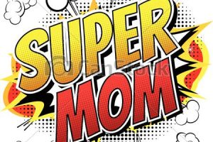 super mom clipart 4