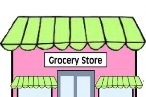 supermarket building clipart black and white 12