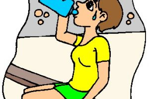 sweating clipart 2