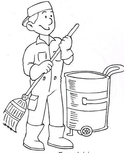 Sweeper Clipart Black And White 3
