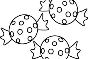 sweet clipart black and white 4