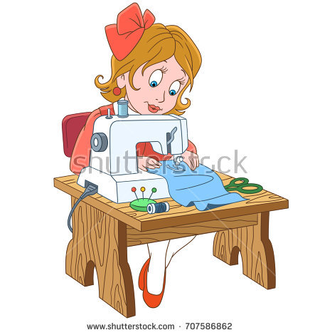 tailor with sewing machine clipart 1 clipart station
