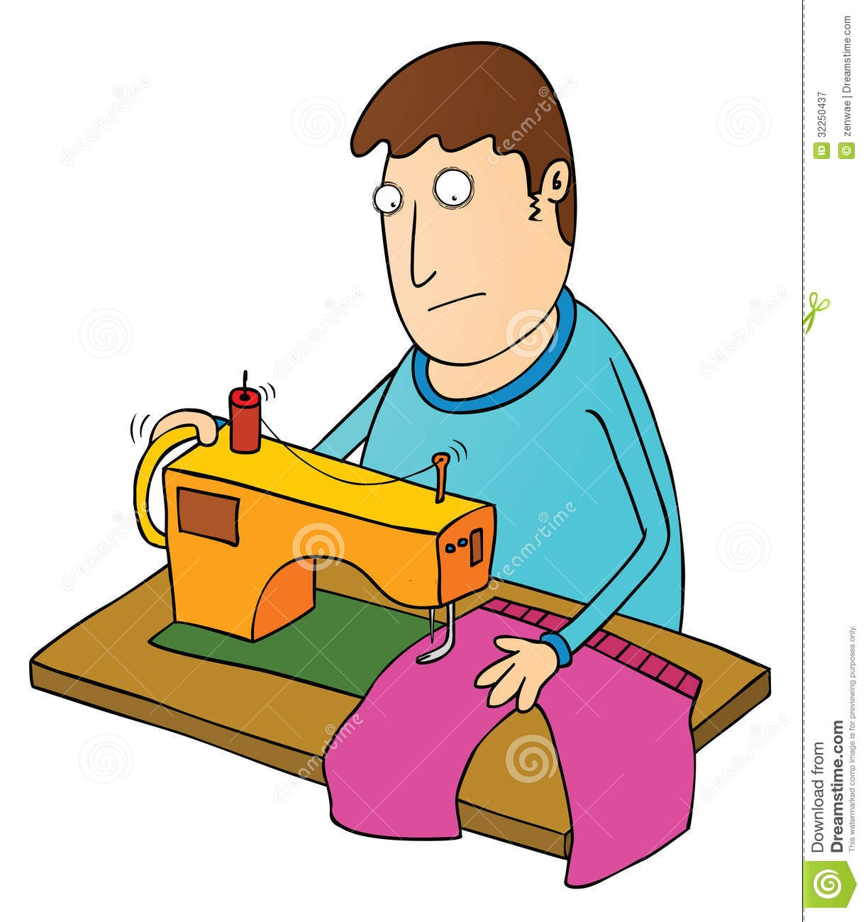 tailor with sewing machine clipart 11 187 clipart station