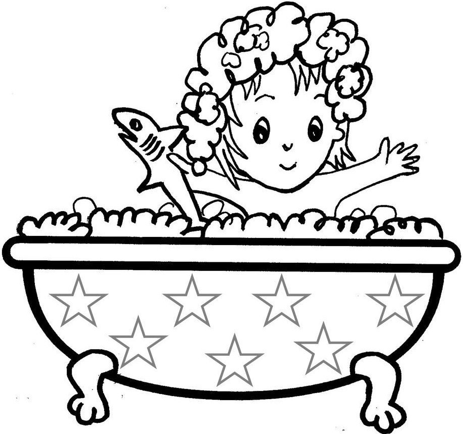 Take A Bath Clipart Black And White 14 Clipart Station