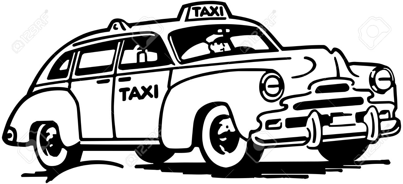 taxi clipart black and white 4 clipart station. Black Bedroom Furniture Sets. Home Design Ideas