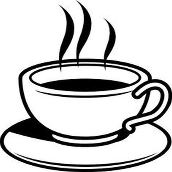 Tea Cup Clipart Black And White 4 Clipart Station