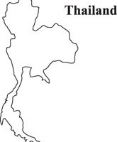 Thailand outline map clipart