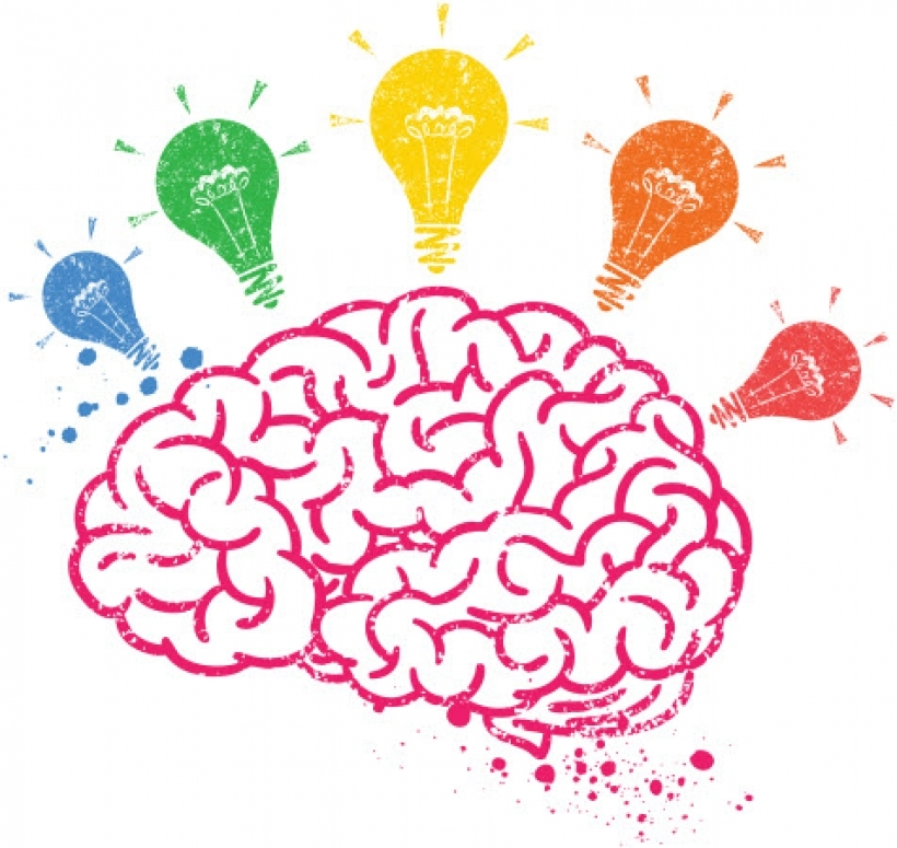 Brain kids. Thinking clipart for