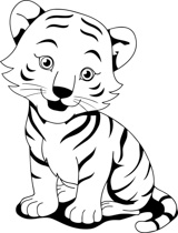 black white tiger cub clipart clipart station rh clipartstation com Tiger Cub Scout Clip Art tiger cub scout clip art free
