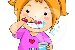 toothbrushing clipart 6
