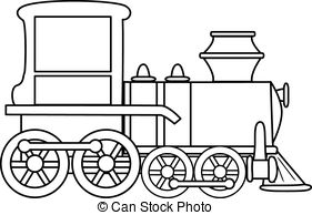 toy train clipart black and white 4