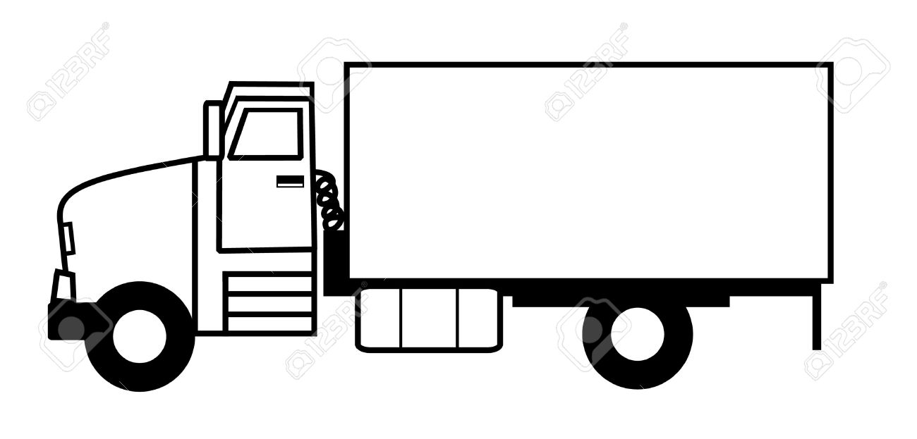 Transport Truck Clipart Black And White 1 » Clipart Station