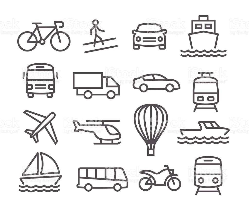 Well-known transportation clipart black and white 6 | Clipart Station JD82