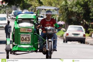 tricycle driver clipart 2