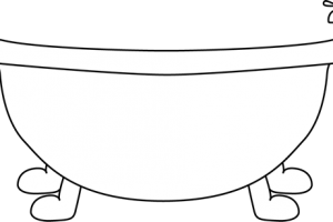 tub clipart black and white 2