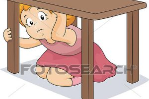 under the table clipart 3