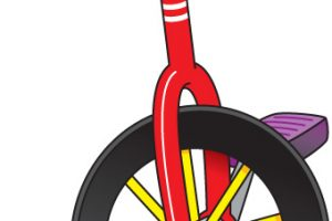 unicycle clipart