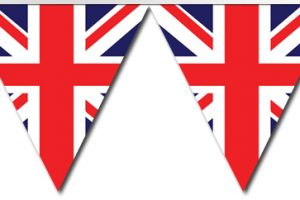 union jack bunting clipart 2