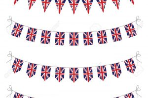 union jack bunting clipart 3