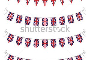 union jack bunting clipart