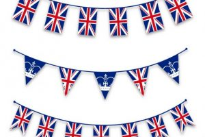 union jack bunting clipart 8