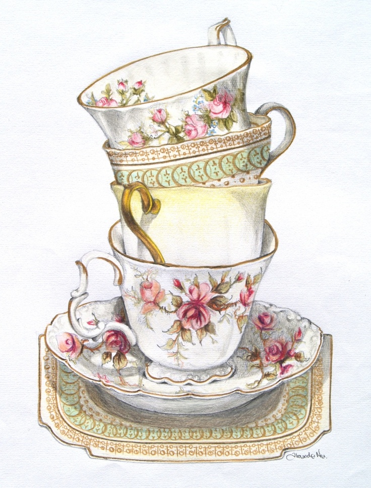 Vintage Afternoon Tea Clipart 11 187 Clipart Station