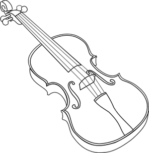 violin clipart black and white 3 | clipart station