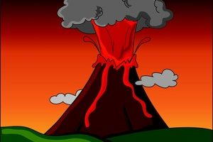 volcanic eruption clipart 11