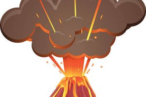 volcanic eruption clipart