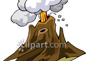 volcanic eruption clipart 9