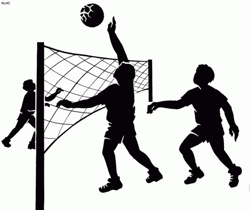 Clipart Child Volleyball - Girl Playing Sports Cartoon ... |Volleyball Game Clipart