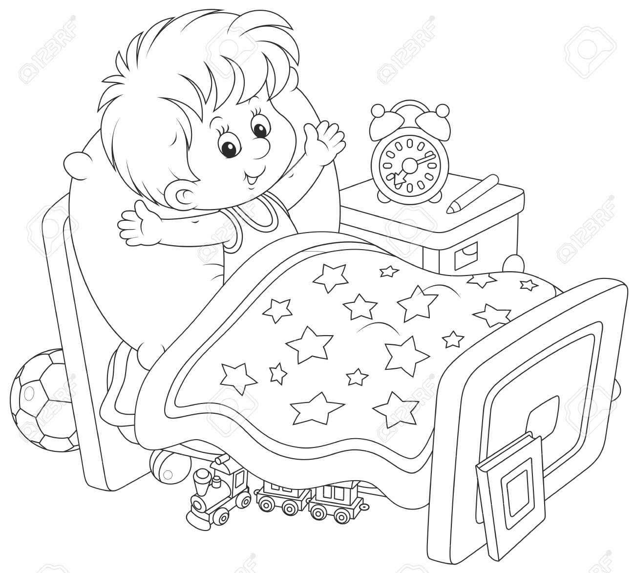Wake Up Clipart Black And White 2