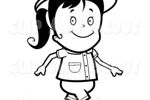walking clipart black and white 9
