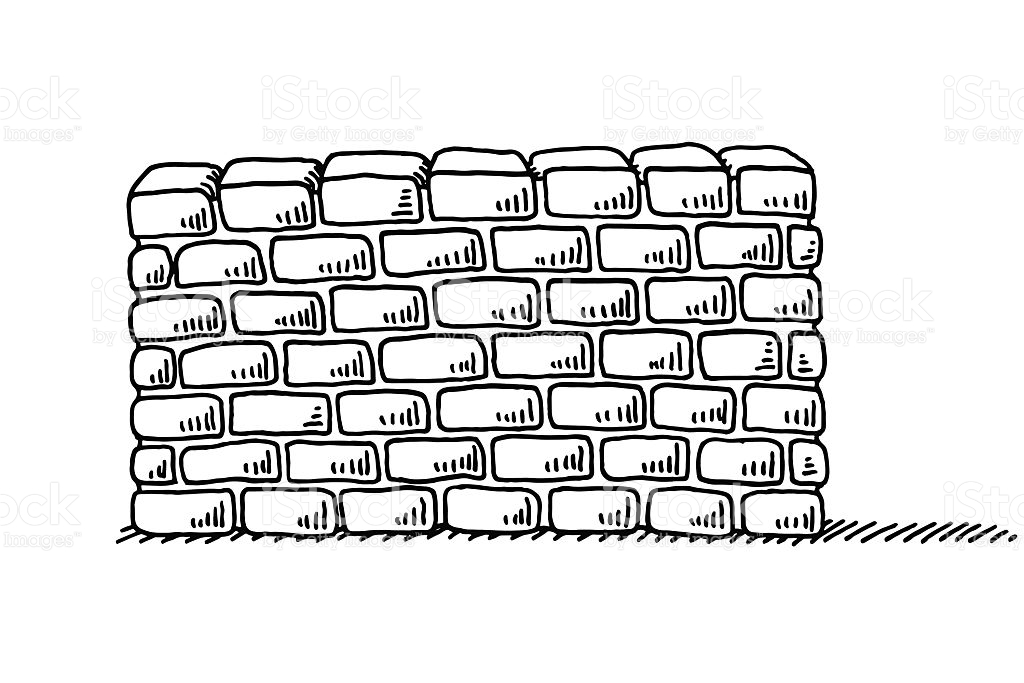 Wall Clipart Black And White 3