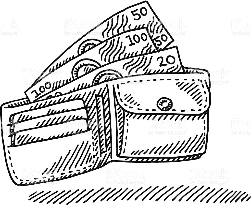 wallet clipart black and white 5 clipart station