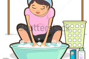 washing clothes clipart 2