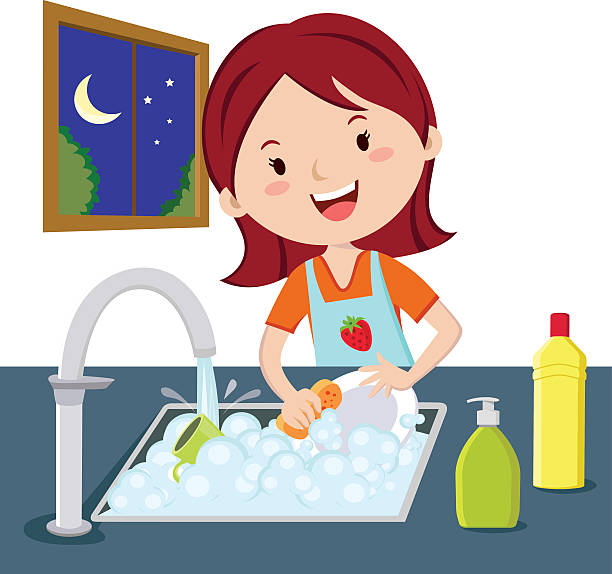 Washing dishes clipart 5 » Clipart Station