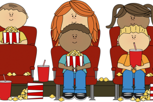 watching movie clipart 4