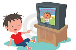 watching tv clipart 8