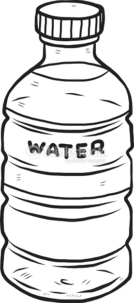 Water bottle clipart black and white » Clipart Station