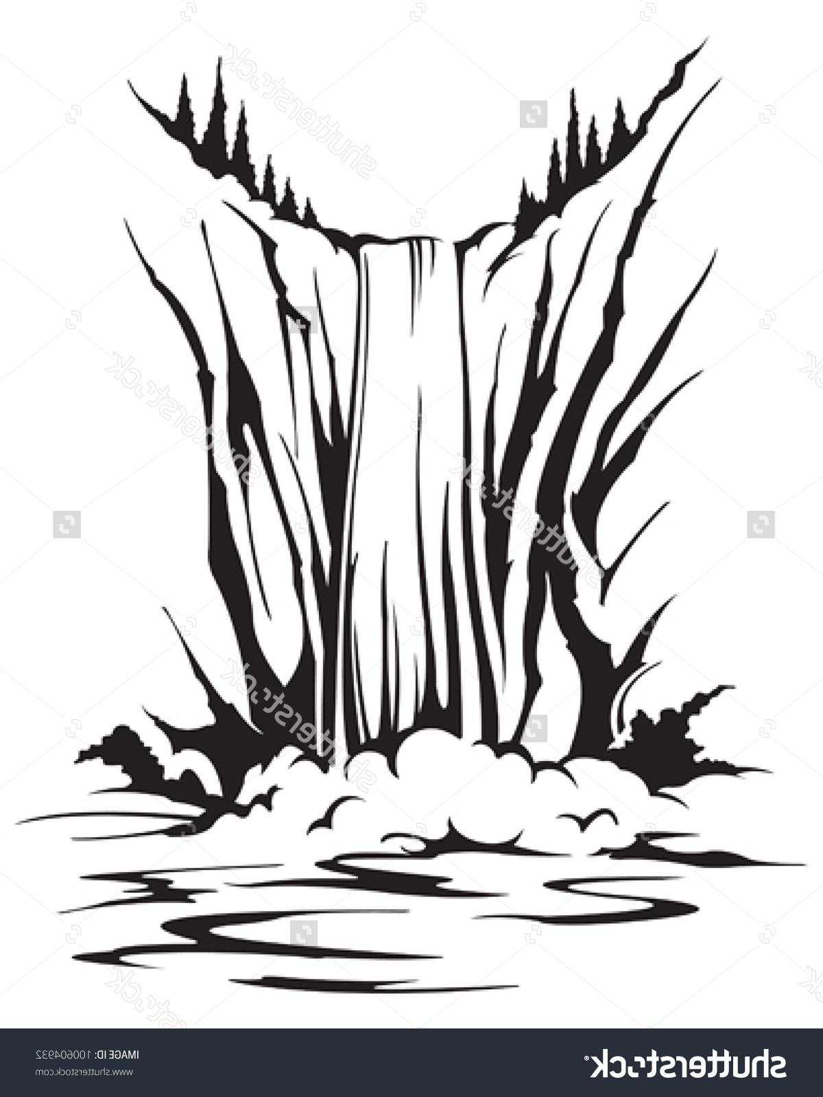 waterfall clipart black and white 10 187 clipart station