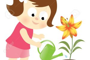watering the plants clipart 13