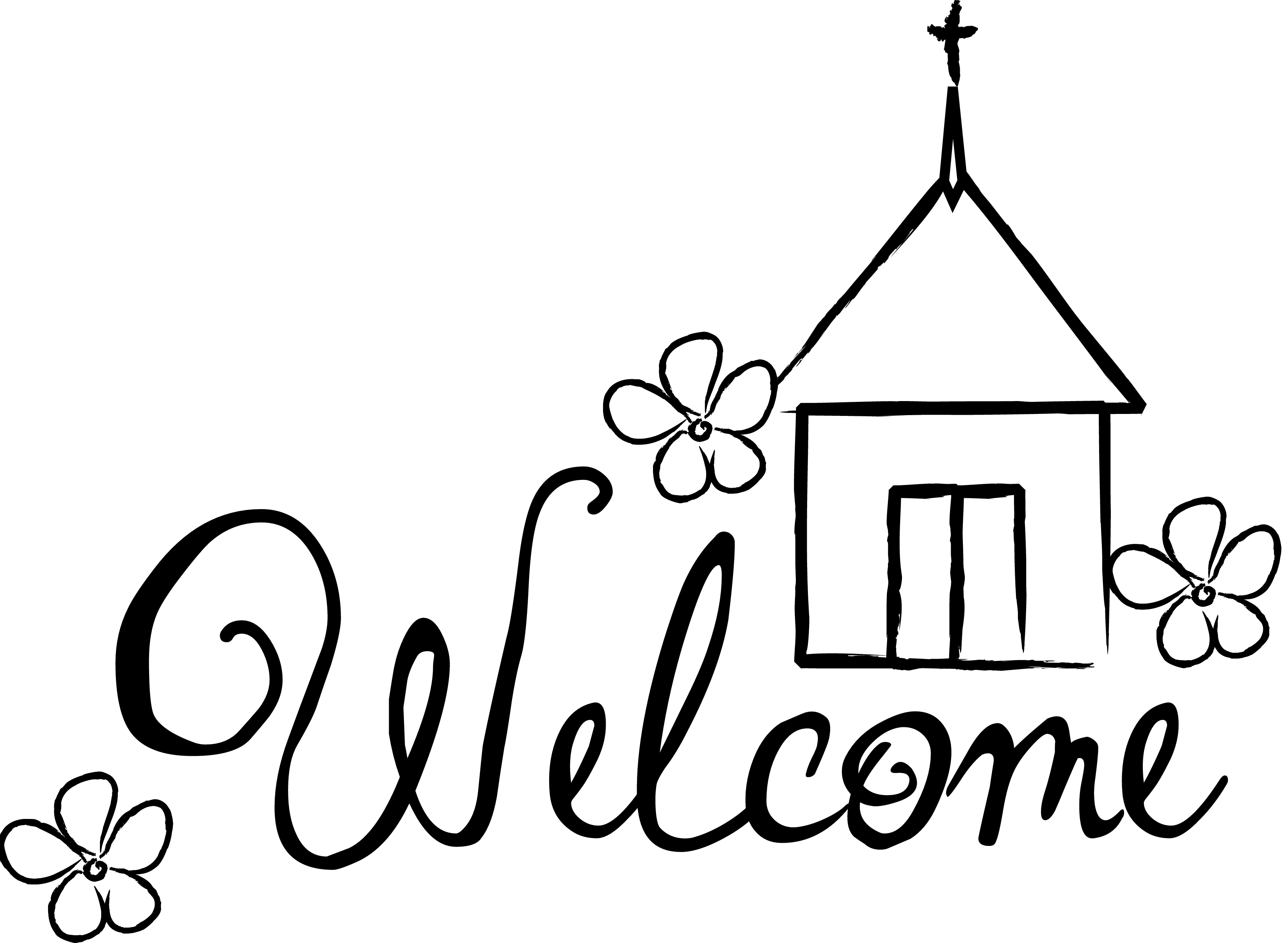 welcome clipart black and white 9 » clipart station